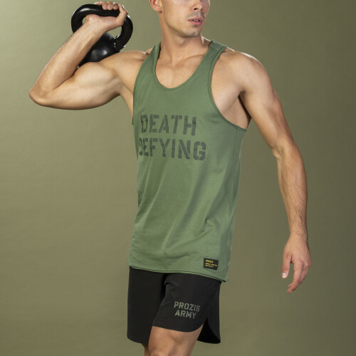 Camisola Sem Mangas Army - Death Defying Green