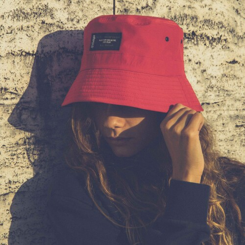 X-College Reversible Bucket Hat - Creek Red