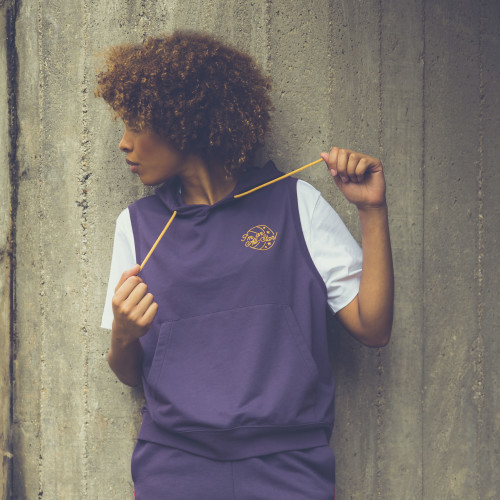 X-College Sleeveless Hoodie - Norwalk Purple