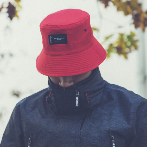 X-College Reversible Bucket Hat - Creek M Red