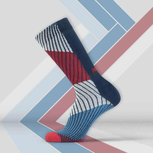 B-Style Socks - Sliced Navy