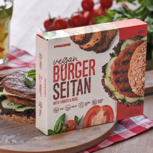 2 x Vegan Burger - Seitan with Tomato & Basil 80 g