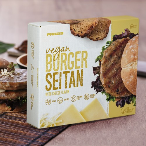 2 x Vegan Burger - Seitan with Cheese Flavor 80 g