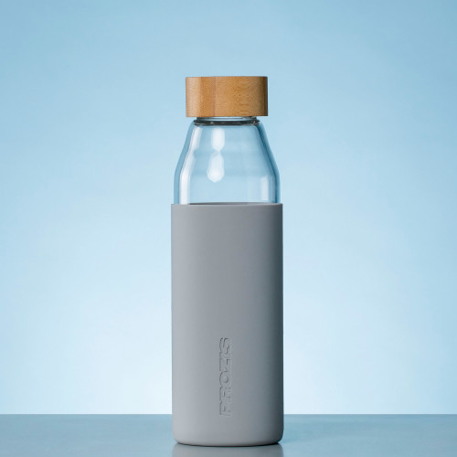 Oslo Glass Bottle - Grey 500 ml