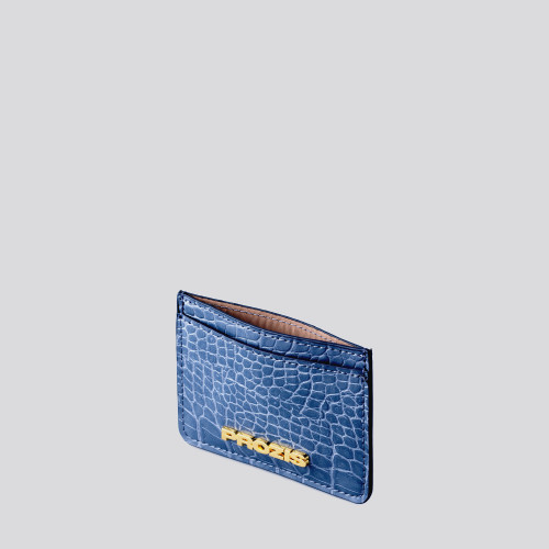 Cardholder - Crauxcodile Smooth Blue