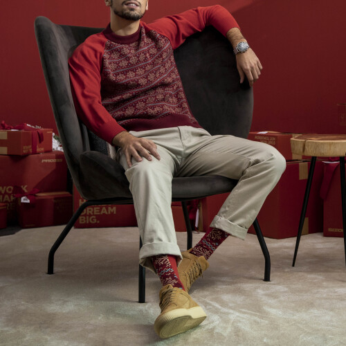 Xmas Flake Sweater - Red/Bordeaux