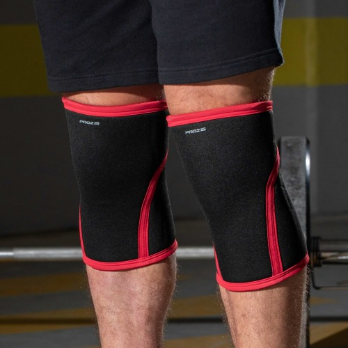 Endure Knee Sleeve - Pair (2) - Black / Red