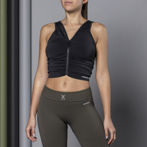 X-Skin Reed Tank Top - Stretch Limo