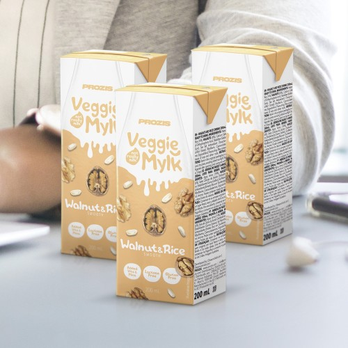 3 x Veggie Mylk - Walnuss- & Reis-Drink 200 mL