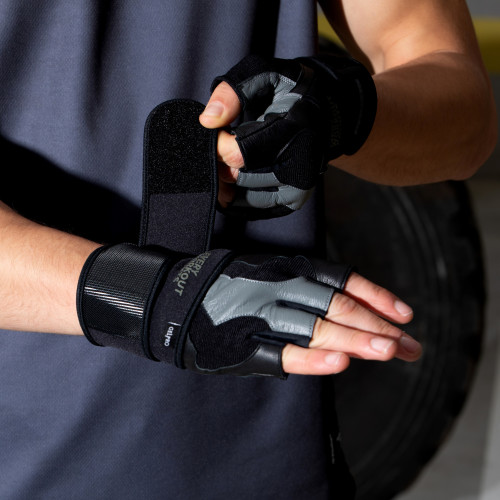 Every Workout Counts - Ultra Grip Training Gloves Black / Gray