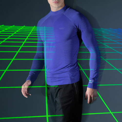 Peak LS Baselayer - Shinobi Shock Blue