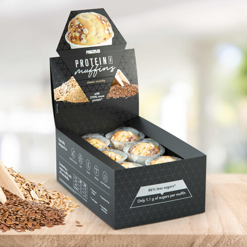 12 x Protein Mini Muffins - Clássicos Crocantes 30 g