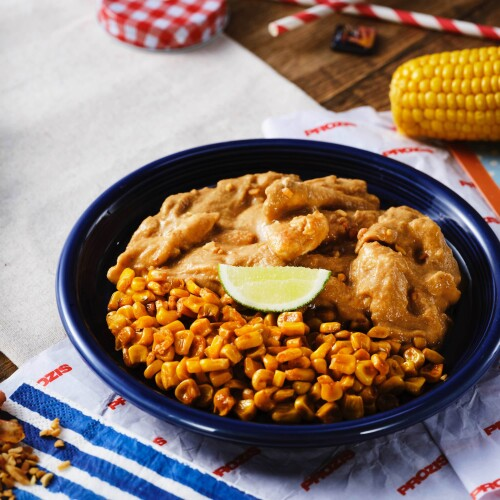 American Peanut Butter Chicken & Roasted Corn