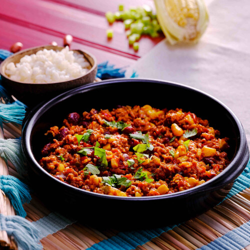 Mexican Authentic Chili Con Carne & Rice