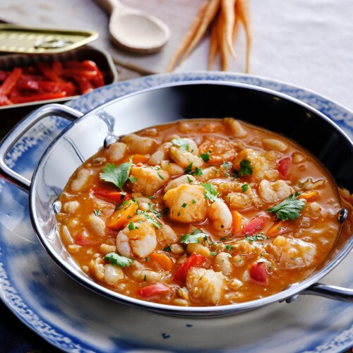 Portuguese Seafood Bean Stew