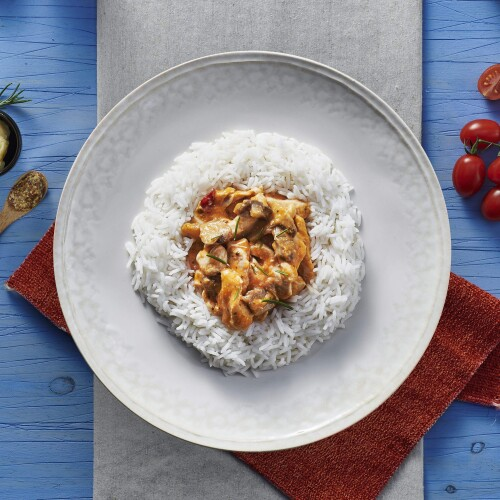 Russian Creamy Chicken Stroganoff & Basmati Rice