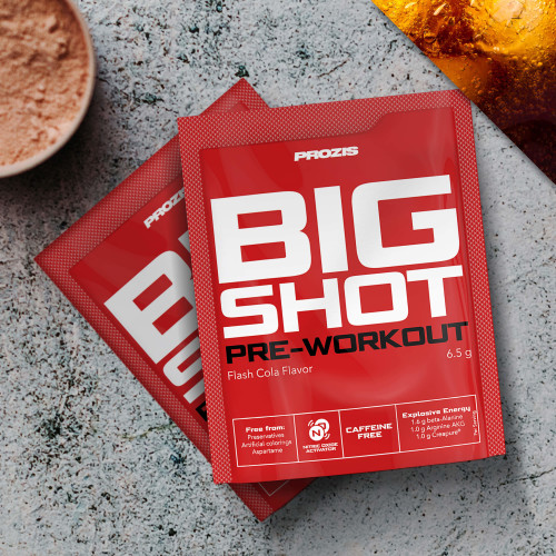 2 x Sachet Big Shot - Pre-Workout Caffeine Free 1 serving