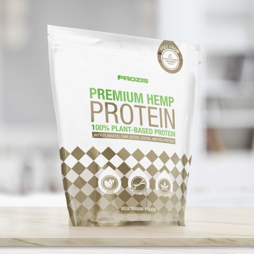 Premium Hemp Protein with Flaxseed, Chia Flour, Cocoa & Pea Protein 900 g