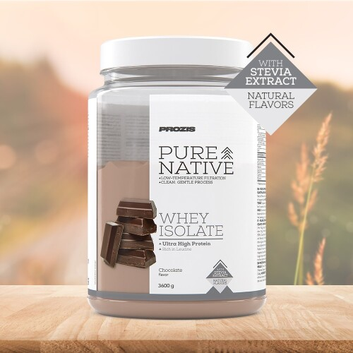 Natural Pure Native Whey Isolate 3600 g