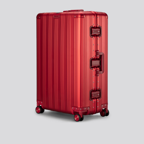 Grand Suitcase - Aluminum Globetrotter Sunset Red