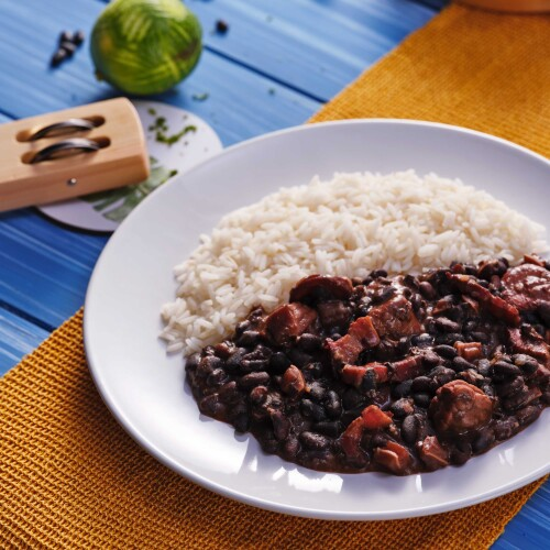 Brazilian Feijoada Black Bean Stew & Rice