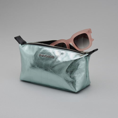 Glam Wash Bag - Metallic Green