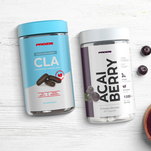 CLA 800 mg 90 softgels + Açai Berry 500mg 60 caps