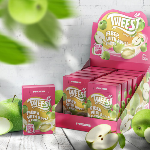 12 x Tweest Vitamin Drops - Fibres Parfum Pomme 50 g