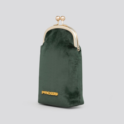 Daisy Coin Purse - Velvet Green
