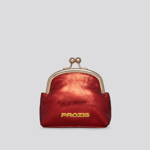 Jessica Coin Purse - Metallic Red