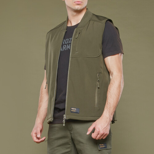Army Special Ops Softshell Vest - Olive Green