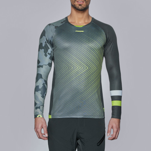 X-Cycle MTB LS Jersey - Shred Green