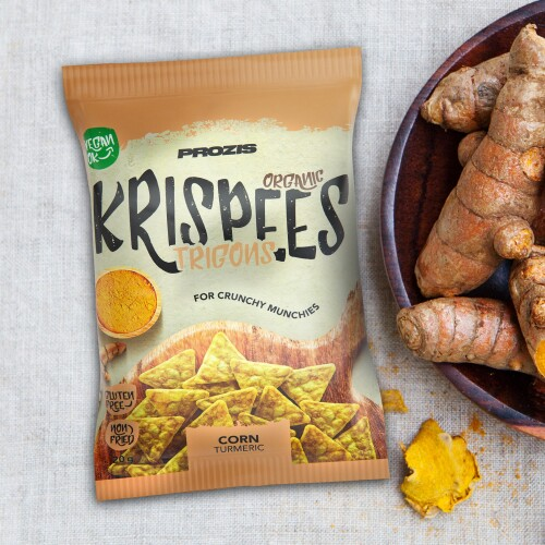 Organic Trigon Krispees - Corn with Turmeric 20 g