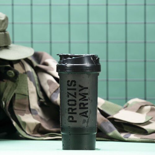 Shaker Prozis Army - Black 500 ml