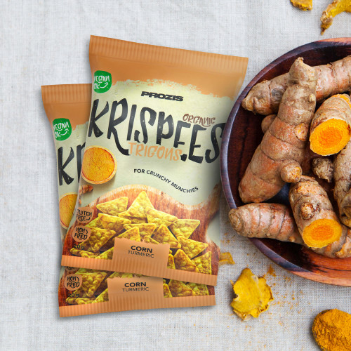 2 x Organic Trigon Krispees - Corn with Turmeric 20 g