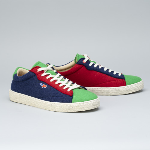 Sneakers - Match Felt Patchwork