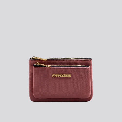 Cartera Double - Litchi Pink