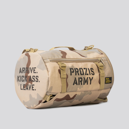 Army Duffle Backpack - G.I. Camo Beige