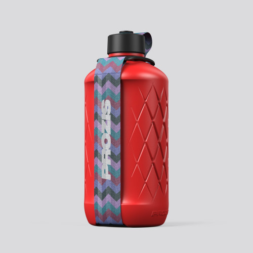 Hydra Bottle - 1.8L Red/Zig-zag Purple