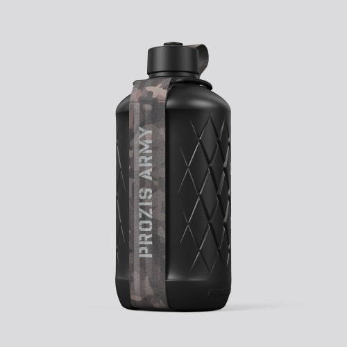 Army Hydra Bottle - 1.8L Black/Camo Brown