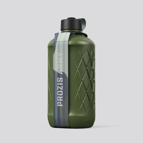 Army Hydra Bottle - 1.8L Green/Camo Gray