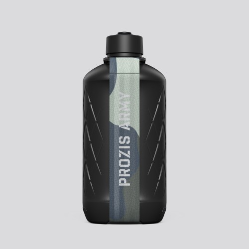 Army Hydra fles - 1.8L Black/Camo Gray