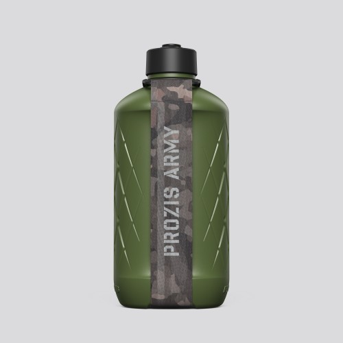Army Hydra Bottle - 1.8L Green/Camo Brown