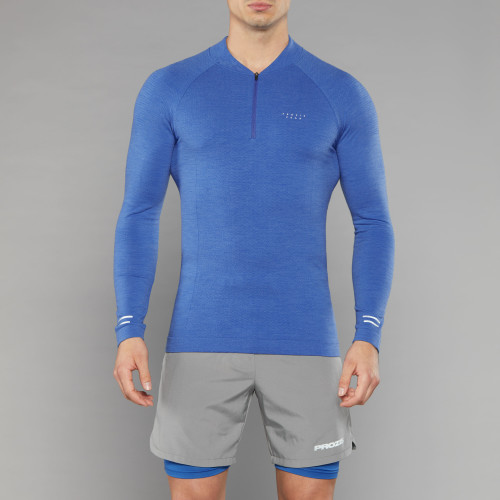Peak Kojima Langarm Baselayer - Shock Blue