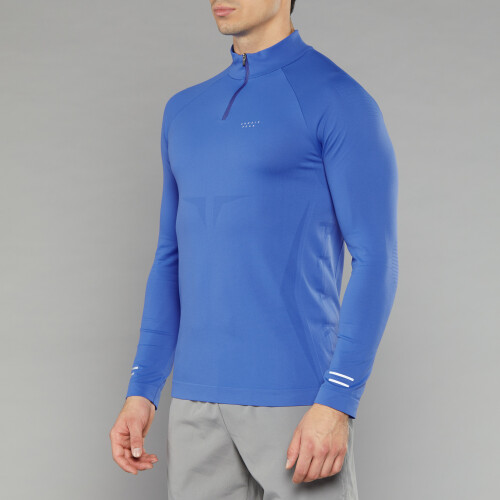Peak Raiden Langarm Baselayer - Shock Blue