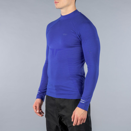 Peak Langarm Baselayer - Shinobi Shock Blue