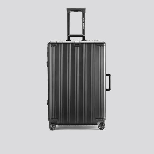 Grand Suitcase - Aluminum Globetrotter Jet Black