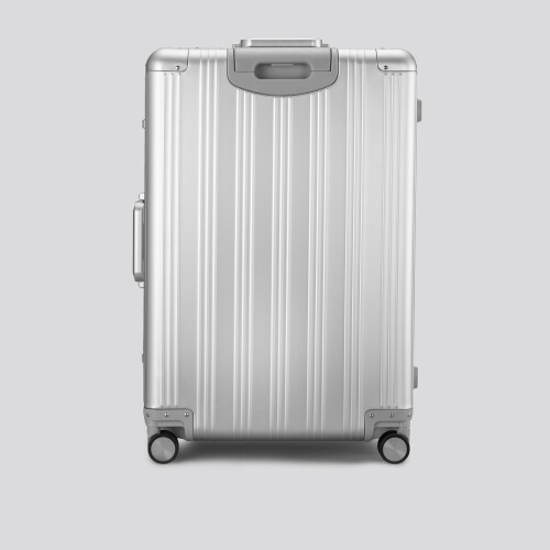 Grand Suitcase - Aluminum Globetrotter Silver