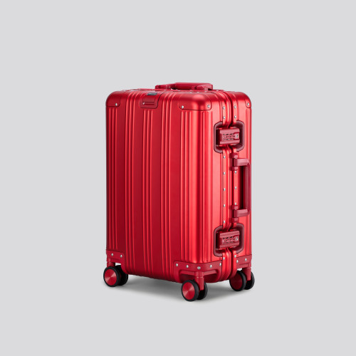 Cabin Suitcase - Aluminum Globetrotter Sunset Red