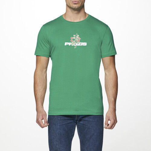 T-Shirt Wild Thing - Red Flower Green